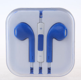 Earbuds Headset With Remote & Mic in Assorted Colors for Standard 3.55 mm Earjacks