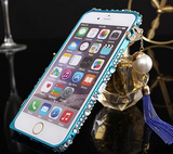 iPhone 6 Plus, iPhone 6, 5/5S - Fancy Filigree With Swinging Tassel Bumper in Assorted Colors