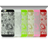 iPhone 6 Plus, 6, 5/5S - Swirling Abstract Flowers Soft Transparent Case in Assorted Colors