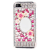 iPhone 5/5S *RED TAG* - Flowers, Pearls & Rhinestones With Inlaid Mirror Case