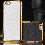 iPhone 6 Plus, 6, 5/5S - Woven Circles With Gold Border Slim Case in Assorted Colors