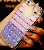 iPhone 6 Plus, 6 - Foxy Fur 3D Gem Tile & Rhinestone Case in Assorted Colors