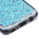 Galaxy S8, S8 Plus - Beautiful Glittering Hearts Case in Assorted Colors
