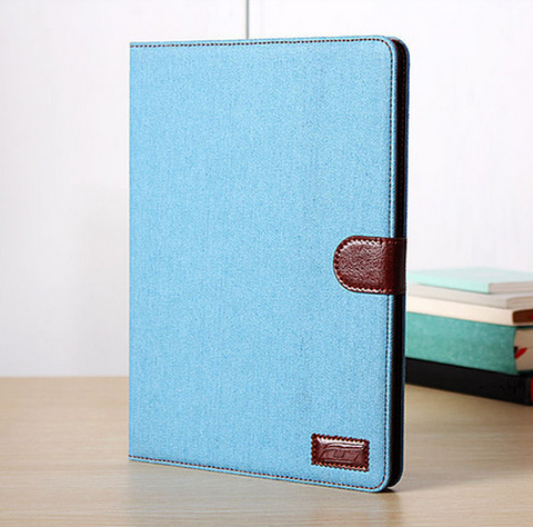 iPad Air 1 - Trendy Blue Jeans Flip Stand Case in Assorted Colors