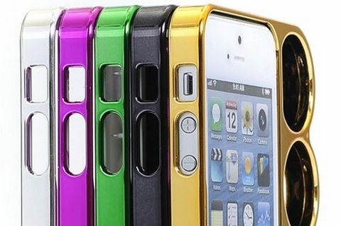 iPhone 6/6S /Plus, 5/5S /SE  - Hot Metallic Finger Knuckle Case in Assorted Colors