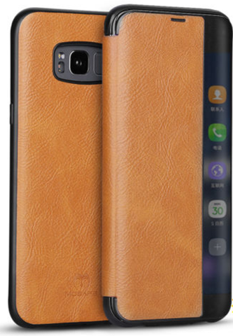 Galaxy S8 Plus, S8 - Soft, Elegant Flip Case in 2 Colors