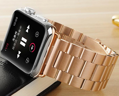 Apple Watch - Beauty and Strength, Stainless Steel Link Bands in 2 sizes, 4 Colors