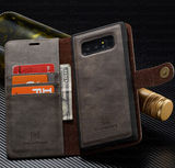 Galaxy Note 9, 8, S8 Plus/S8,  - Supple Leather Removable Wallet Magnetic Flip Cover Case in Assorted Colors