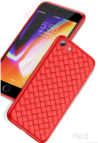 iPhone 8 Plus, 8, 7 Plus, 7 - Super-Thin Grid Weave Flexible Case in 3 Colors