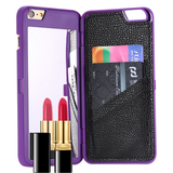 iPhone 6 Plus, 6 - Handy Makeup Mirror & Card Hideaway Case in Assorted Colors