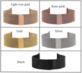 Apple Watch - Elegant Milanese Metallic Magnetic Band in 5 Colors