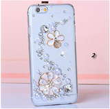 iPhone 6 Plus, 6 - Glitzy Crown, Flowers, OR Bow on Clear Case