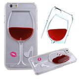 iPhone 7, 7 Plus, 6/6S & Plus, 5/5S/SE - Red Wine Glass or Beer Clear Case in Assorted Designs