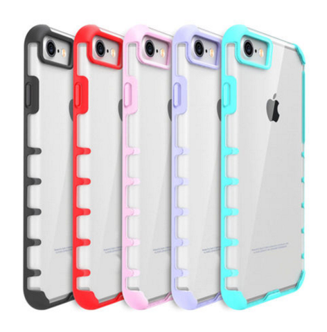 iPhone 7 Plus, 7 - Slim, Clear and Colorful Hybrid Hard Case in Assorted Colors