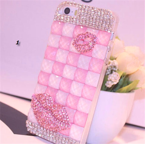 iPhone 6 Plus - Hot Lips on Candy Pink Tile Case in Assorted Designs