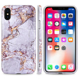 iPhone X, 8 Plus/8, 7 Plus/7 - Magnificent Marble Soft Case in Assorted Colors