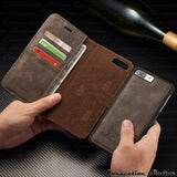 iPhone X, 8 Plus, 8, 7 Plus, 7, 6/S Plus, 6/S - Distinctive Business Wallet Cardholder Case in Assorted Colors