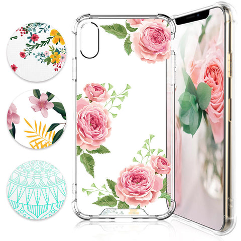 iPhone XS Max, XR- Spring Garden Fun Clear Case in Assorted Colors