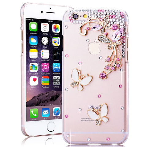 iPhone X, 8/Plus, 7/Plus, 6S/Plus, SE - Stunning Crystal Embellished Case in Assorted Colors