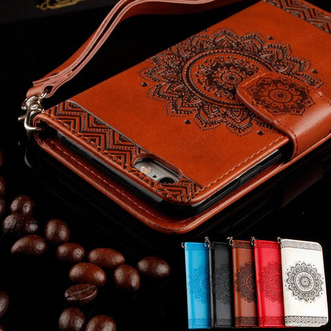 iPhone XS Max, XS/X, XR, 8 Plus, 8, 7 Plus 7, 6/S Plus/6S - Stencilled Wallet Cardholder Wristlet Case in Assorted Colors