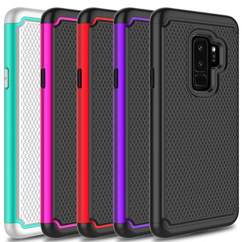 Galaxy S9 Plus/S9 - Armor Non-Slip, Dual Layer Slim Case in Assorted Colors