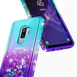 S9 Plus/S9, S8 Plus/S8, Note 9, Note 8 - Flowing Glitter Shapes Color Gradient Case in Assorted Colors