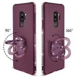 S9 Plus/S9, S8 Plus/S8, Note 8, S7/S7 Edge - Subtle Rhinestone Flexible Kickstand Case in Assorted Colors
