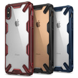 iPhone XS Max, XS, XR, X - Protective Ergonomic Frame Clear Case in Assorted Colors