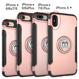 iPhone X, 8 Plus/8, 7 Plus/7, 6S Plus/6S - Rugged Ring Holder Kickstand Case in Assorted Colors