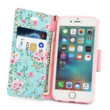 iPhone 7, 7 Plus, 6/6S, 6/6S Plus - Bright, Cheery Card Slot, Wristlet Wallet in Assorted Colors
