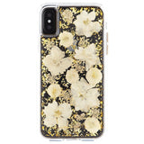 iPhone XS Max, XS, XR, X, 8 Plus/8, 7 Plus/7, 6/S Plus/6S - Pretty Pressed Flowers Clear Case