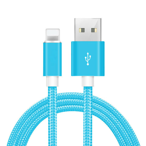 10'  Heavy Duty Lightning Cable for Charging iPhone, iPad in Assorted Colors