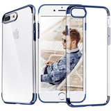 iPhone 8 Plus, 8, 7 Plus, 7 - Sleek, Thin Clear Case With Glossy Borders in Assorted Colors