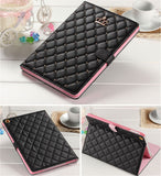 iPad 6th/5th Gen, Air 2/1, 4/3/2, Mini - Diamond Quilt, Crown Emblem Studded Case in Assorted Colors
