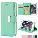 iPhone 7, 7 Plus - Sophisticated Flip-Out Cardholder Wallet Wristlet Case in Assorted Colors