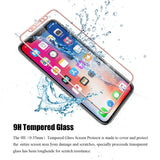 Color Match Curved Full Coverage Tempered Glass Screen Protector for iPhones