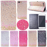 iPhone 7 Plus, 7, 6/6S & Plus - Raindrop Studded Pastel Wallet Case in Assorted Colors