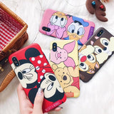 iPhone Max XS, X/S, XR, 8 Plus/8, 7 Plus/7, 6/S Plus, 6/S - Adorable Cartoon Theme Case in Assorted Colors
