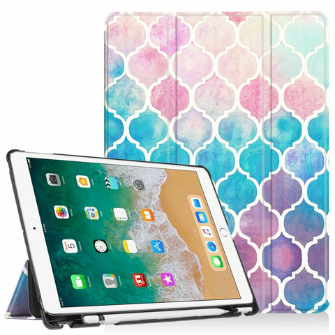"iPad Air 3rd Gen 2019 (10.5"") - Vibrant Color Smart Case With Pencil Holder in Assorted Colors"