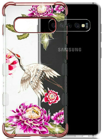 Galaxy S10 Plus, S10 - Nature's Beauty Clear Case with Border in Assorted Colors