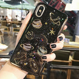 iPhone XS Max, XS/X, XR, 8 Plus/8, 7 Plus/7, 6/S Plus/6/S - Glittering Galaxies Case in Assorted Colors