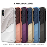 iPhone X - Stunning, Form Fitting Wave, Dual Color Case in Assorted Colors