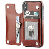 iPhone XS Max, XS, XR, X, 8 Plus/8, 7 Plus/7, 6/S Plus/6S - Smart Dual Fold Wallet Cardholder Case in 3 Colors