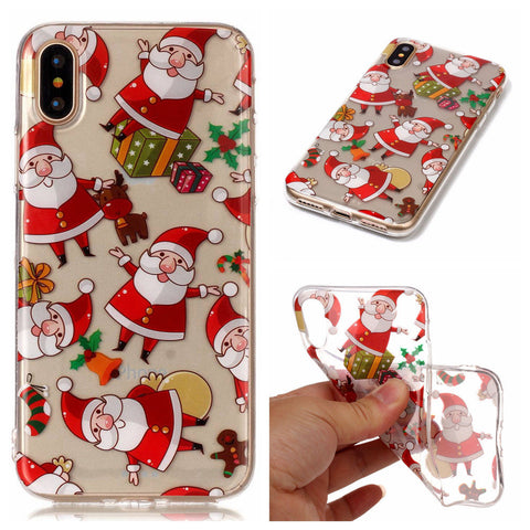 iPhone XS Max, X, XR, XS, iPhone 8 Plus, iPhone 8 - Cheery Christmas Case in Assorted Designs