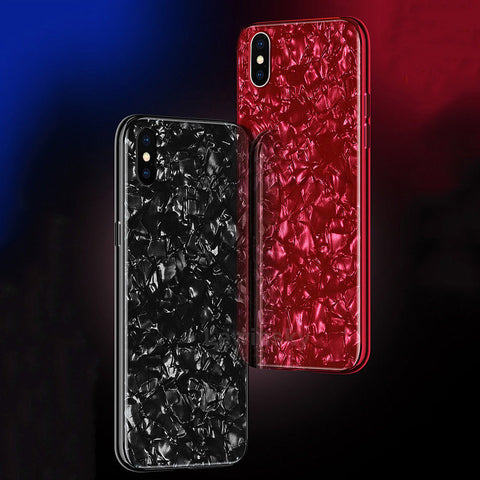 iPhone X, XS, XS Max, XR,  8 Plus/8, 7 Plus/7 - Glossy Tempered Glass, Ultra Thin Case in Assorted Colors