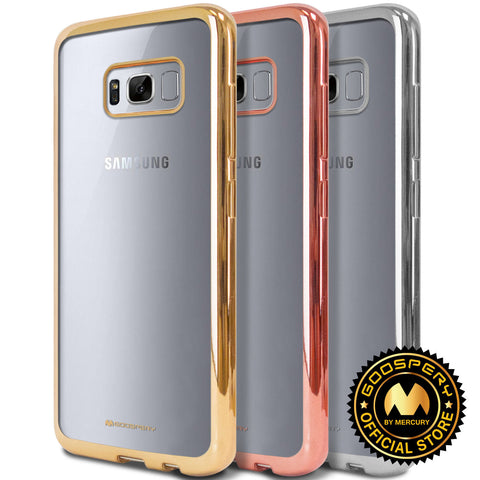 Galaxy S8, S8 Plus - Simply Sophisticated Trim on Clear Case in Assorted Colors