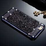 iPhone X, 8 Plus, 8, 7 Plus, 7, 6/S Plus, 6/S - Distinctive Rhinestone Glitter Combo Case