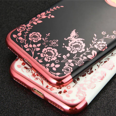 iPhone 8 Plus, 8, 7 Plus, 7- Butterfly Garden Soft Case in Assorted Colors