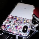Galaxy Note 9, 8, S8 Plus/S8, S7/S7 Edge - Precious Gem Semi Studded Clear Case