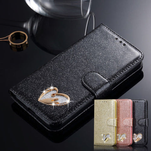 "Galaxy S9 Plus/9, S8 Plus/8, Note 8, S7 /Edge - ""Heart Me Forever"" Wallet Case in Assorted Colors"